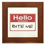 Bite Me Name Tag Plaque