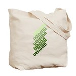 Stacked Obama Green Tote Bag