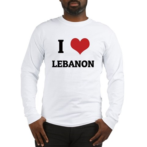 I Love Lebanon Long Sleeve T-Shirt