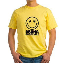 Obama Makes Me Smile Yellow T-Shirt