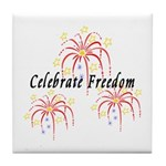 Celebrate Freedom Tile Coaster