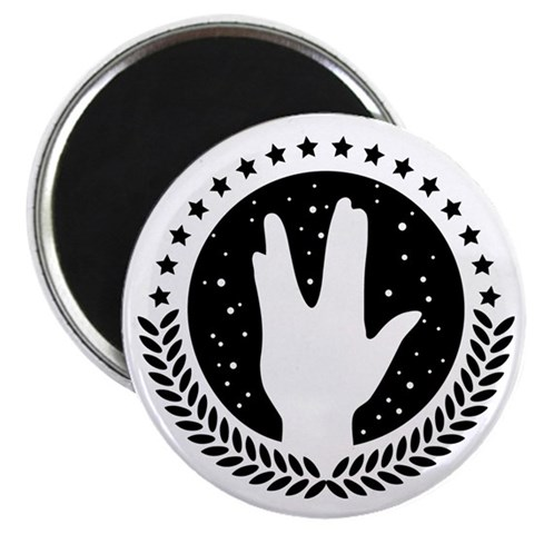 Vulcan Hand Greeting 1c Star trek Magnet