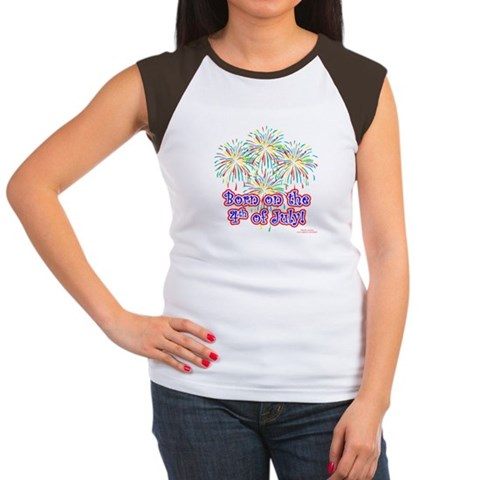 Product Image of Born on the 4th of July Women's Cap Sleeve T-Shirt