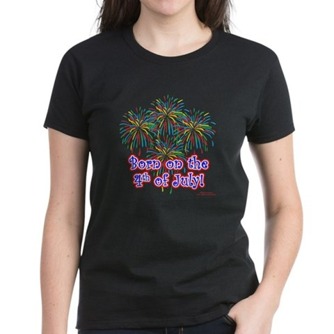 Product Image of Born on the 4th of July Women's Dark T-Shirt