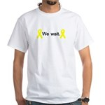 We wait White T-Shirt