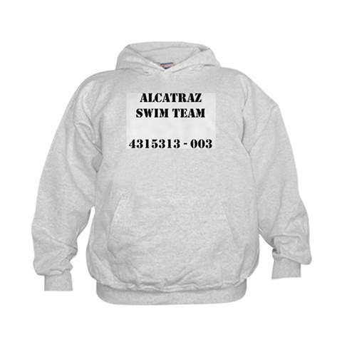 Alcatraz Swim Team  Funny Kids Hoodie by CafePress