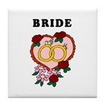Wedding Bands Tile Coaster