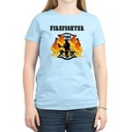 Firefighting Flames Women's Light T-Shirt