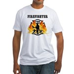 Firefighting Flames Fitted T-Shirt