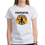 Firefighting Flames Women's T-Shirt