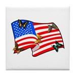 Patriotic USA Earth Tile Coaster