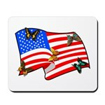 Patriotic USA Earth Mousepad