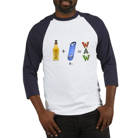 Beer Skate board Funny Baseball Jersey by CafePress