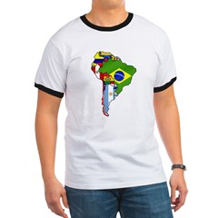 South American map t-shirt