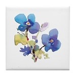 Watercolor Flowers Tile Coaster