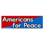 Americans for Peace Bumper Sticker