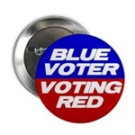 "Blue Voting Red 2.25"" Button"