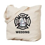 Firefighter Wedding Tote Bag