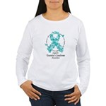 Tourette's Butterfly Ribbon Women's Long Sleeve T-