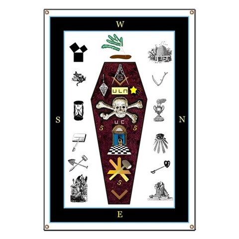 An inexpensive Masters quot;Carpetquot; Freemasonry Banner by CafePress