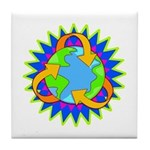 Earth Day Energy Tile Coaster