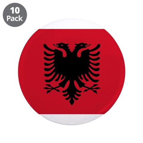 Albanian Flag  Flag 3.5 Button 10 pack by CafePress