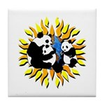 Panda Family Planet Tile Coaster