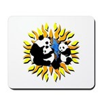 Panda Family Planet Mousepad