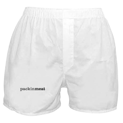 'packin' meat'  Sexy Boxer Shorts by CafePress