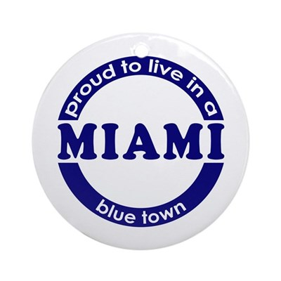 Miami: Blue Town Keepsake (Round)