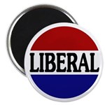 "Liberal Red White and Blue 2.25"" Magnet (100 pack)"