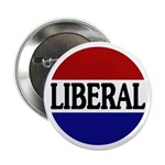 "Liberal Red White and Blue 2.25"" Button (100 pack)"