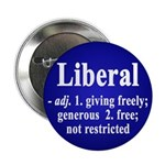 Definitions of the word Liberal (button)