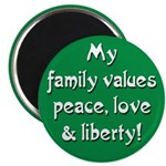 Progressive Family Values Magnet