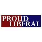 Proud Liberal (bumper sticker)