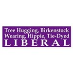 Tree Hugging, Birkenstock Liberal (sticker)
