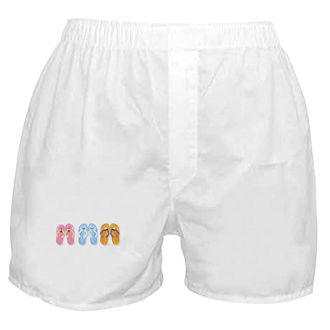 3 Pairs of Flip-Flops  Beach Boxer Shorts by CafePress