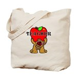 Apple Bear Tote Bag