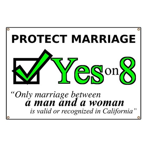 Yes on 8  Family Banner by CafePress