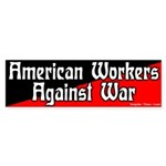 American Workers Against War Stickers