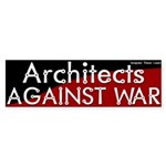 Architects against war bumper sticker