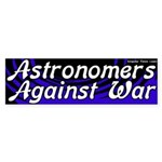 Astronomers against war bumpersticker