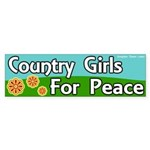 Country Girls for Peace Sticker