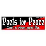 Poets for Peace bumper sticker