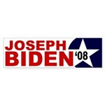 Joseph Biden '08 star bumper sticker