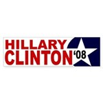 Hillary Clinton '08 star bumper sticker