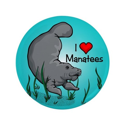 I Love Manatees  Funny 3.5 Button 100 pack by CafePress