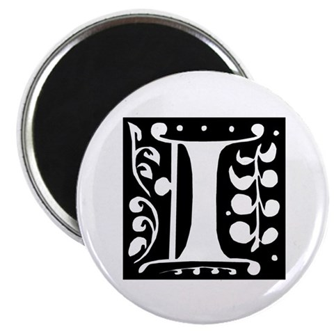 Art Nouveau Initial I  Retro 2.25 Magnet 100 pack by CafePress
