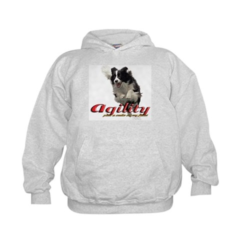 Agility Smile  Dogs Kids Hoodie by CafePress