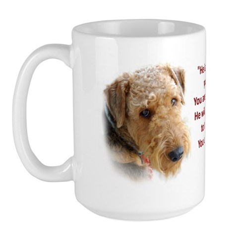 - Airedale Terrier Pets Large Mug by CafePress